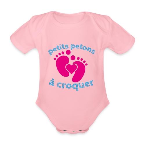 Petits petons à croquer - Petits pieds - Body Bébé bio manches courtes