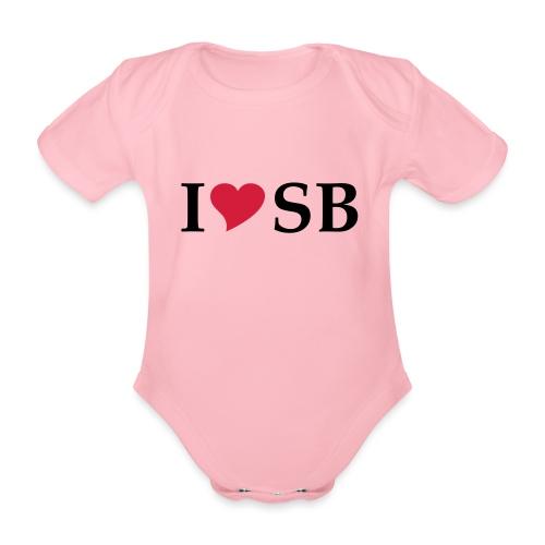 I Love SB Siebenbürgen Sibiu - Baby Bio-Kurzarm-Body
