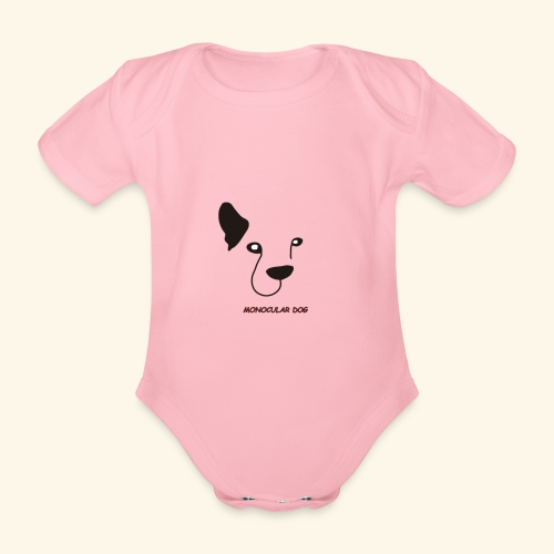 MONOCULAR DOG - Body orgánico de manga corta para bebé