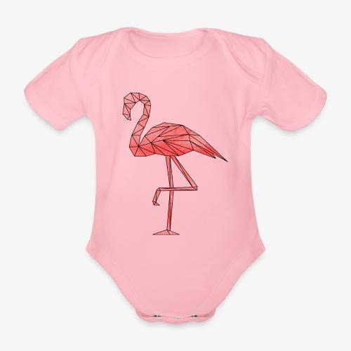 Flamingo Geometrisch - Baby Bio-Kurzarm-Body
