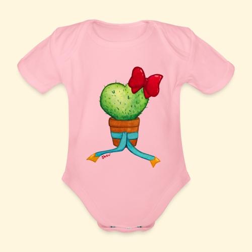 Cactus Coeur - Body bébé bio manches courtes