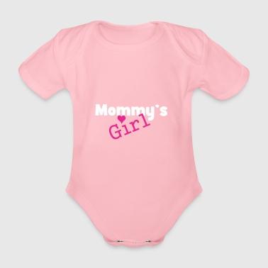 Mommy's girl - Funny baby girl baby - Organic Short-sleeved Baby Bodysuit