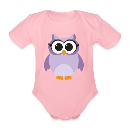 Buho Piconela - Body orgánico de maga corta para bebé