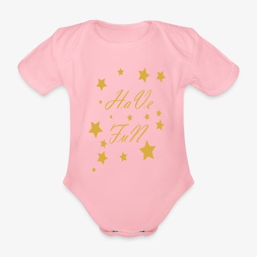 Have Fun - Ekologiczne body niemowlęce z krótkim rękawem