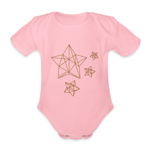 Sternenhimmel Diamant - Baby Bio-Kurzarm-Body