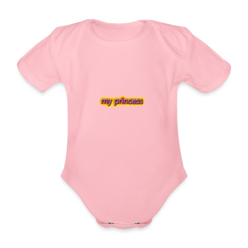 my peincess - Organic Short-sleeved Baby Bodysuit