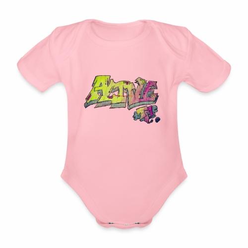 ALIVE TM Collab - Organic Short-sleeved Baby Bodysuit