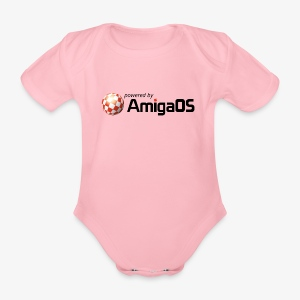 PoweredByAmigaOS Black - Organic Short-sleeved Baby Bodysuit