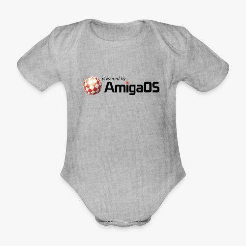 PoweredByAmigaOS Black - Organic Short-sleeved Baby Bodysuit