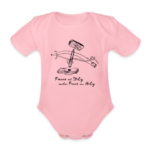 1er BowDrill - Feuerbohrset_FmS - Baby Bio-Kurzarm-Body