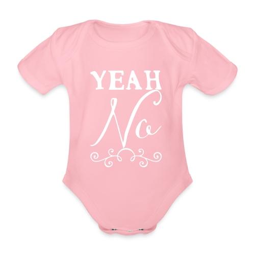 Yeah No - Organic Short-sleeved Baby Bodysuit