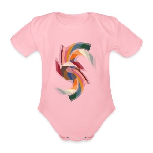 Design abstrakt made by Eve Nord - Baby Bio-Kurzarm-Body