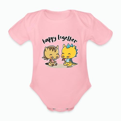 Happy Together - Pferd und Drache - Baby Bio-Kurzarm-Body