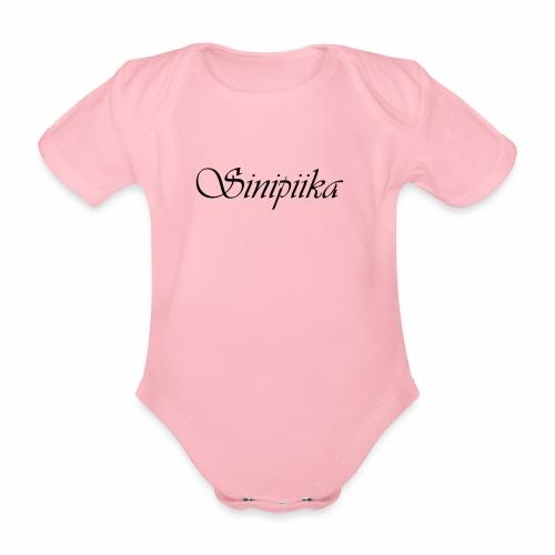 Sinipiika - Vauvan lyhythihainen luomu-body