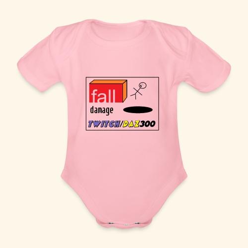 fall damage - Organic Short-sleeved Baby Bodysuit