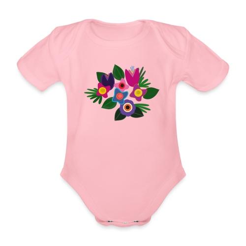 Flowers - Baby Bio-Kurzarm-Body