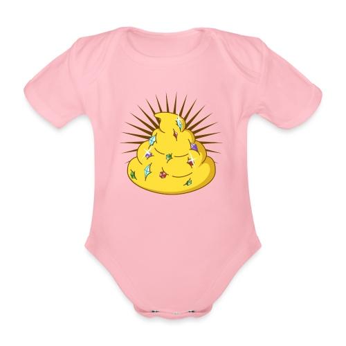 Golden Turd - Organic Short-sleeved Baby Bodysuit