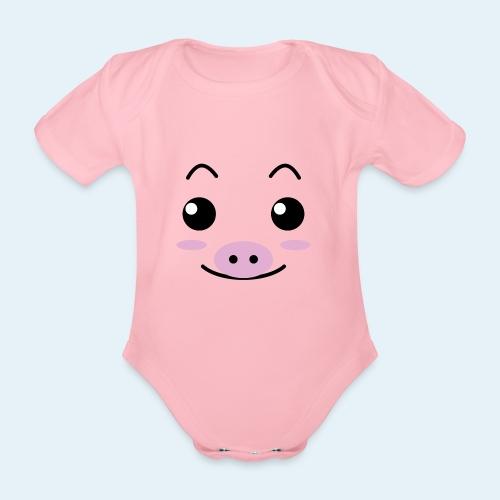 Cerdito lechón (Cachorros) - Body orgánico de manga corta para bebé