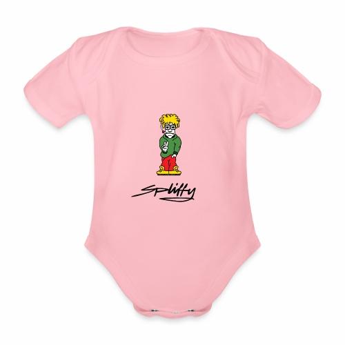 spliffy2 - Organic Short-sleeved Baby Bodysuit