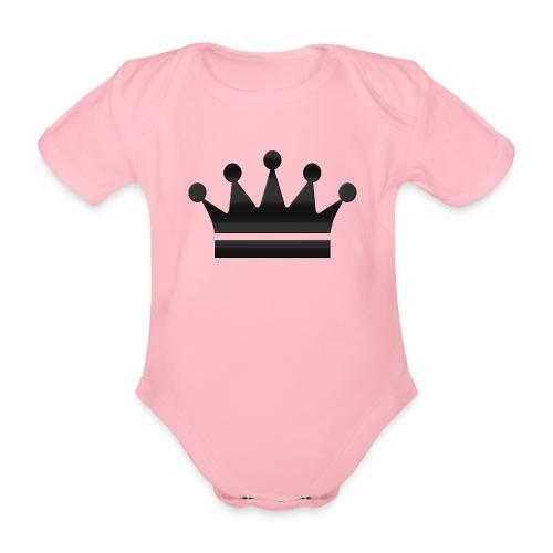 crown - Baby bio-rompertje met korte mouwen