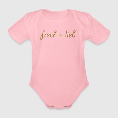 ...frech und lieb... - Baby Bio-Kurzarm-Body
