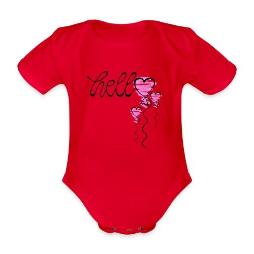Hello Herzballon - Baby Bio-Kurzarm-Body