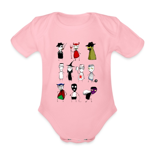 Bad to the bone - Organic Short-sleeved Baby Bodysuit