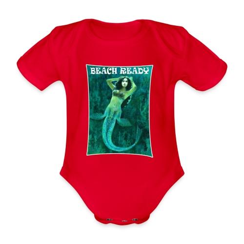 Vintage Pin-up Beach Ready Mermaid - Organic Short-sleeved Baby Bodysuit