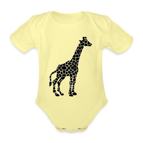 Giraffe (black) - Vauvan lyhythihainen luomu-body