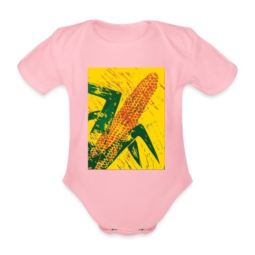 Mais rot - Baby Bio-Kurzarm-Body