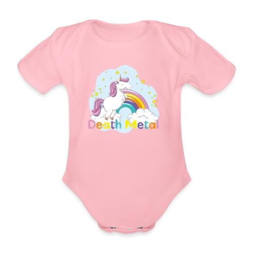 unicorn death metal - Baby bio-rompertje met korte mouwen
