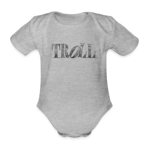 Troll - Organic Short-sleeved Baby Bodysuit