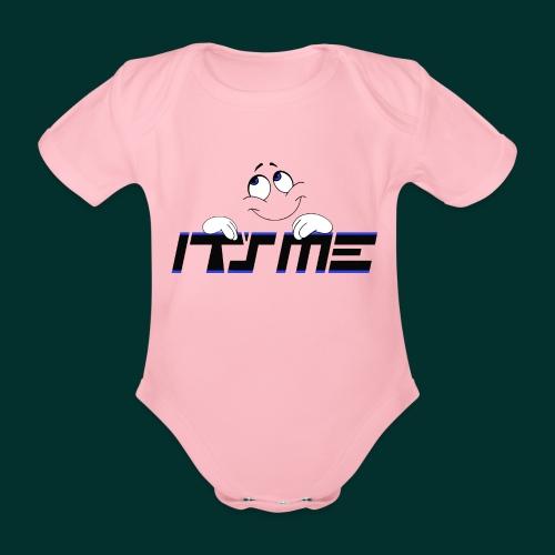 Faccia sognante - Body ecologico per neonato a manica corta