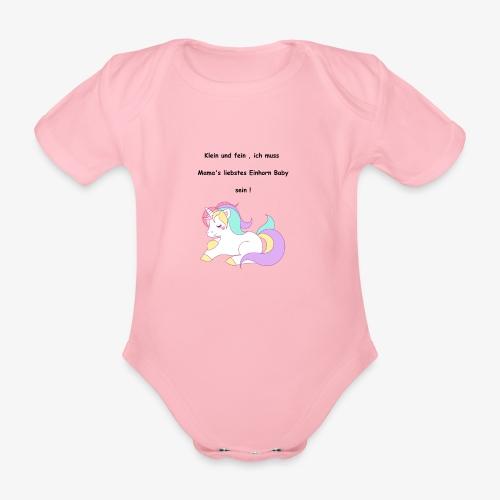 Einhorn Baby - Baby Bio-Kurzarm-Body