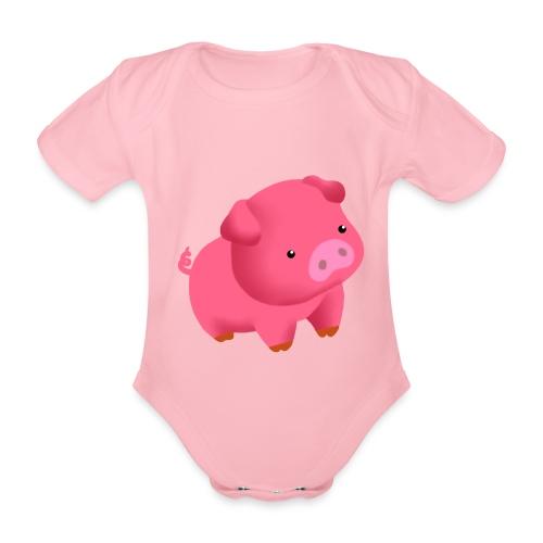 Camisa Cerdito - Body orgánico de maga corta para bebé