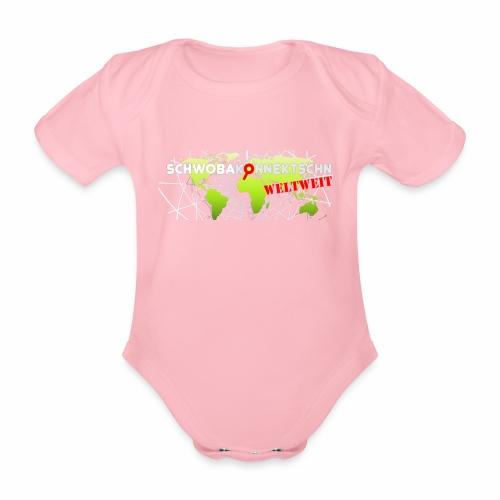 Schwobakonnektschn Logo (transparent) - Baby Bio-Kurzarm-Body