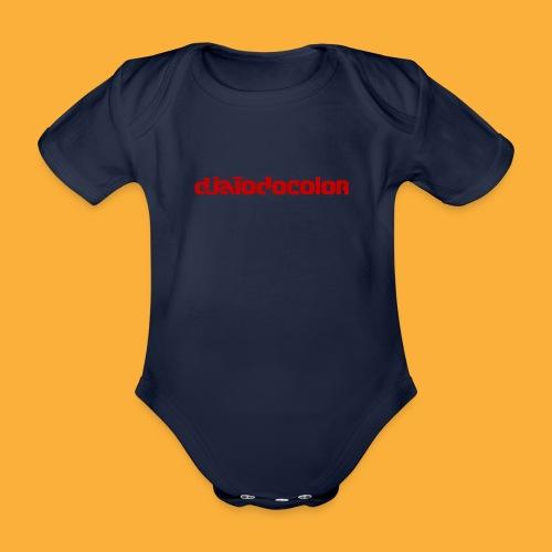 DJATODOCOLOR LOGO ROJO - Body orgánico de maga corta para bebé