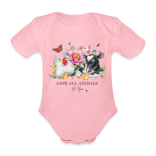 Go vegan - Organic Short-sleeved Baby Bodysuit