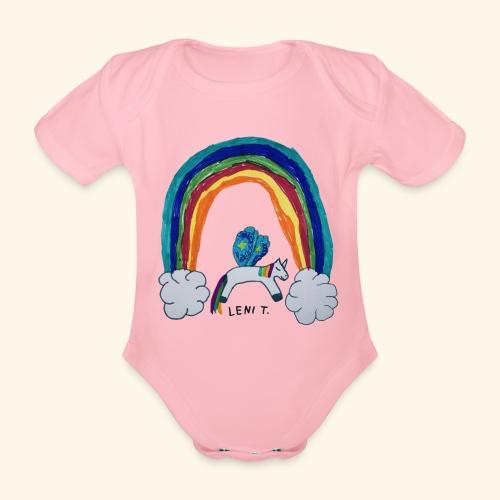LeniT For Unicorns Only - Vauvan lyhythihainen luomu-body