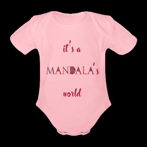 It's a mandala's world - Organic Short-sleeved Baby Bodysuit