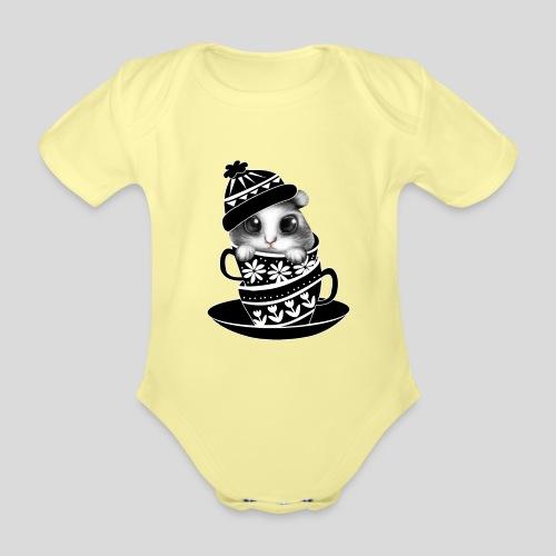 Schwarze Tiere - Baby Bio-Kurzarm-Body