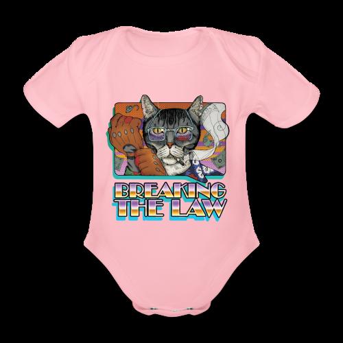 Crime Cat- Breaking the Law - Ekologiczne body niemowlęce z krótkim rękawem
