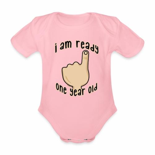 GP19B - ONE YEAR BABY PRODUCTS - 1 -vuotiaalle - Vauvan lyhythihainen luomu-body