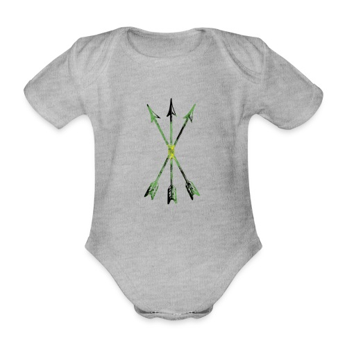 Scoia tael emblem green yellow black - Organic Short-sleeved Baby Bodysuit