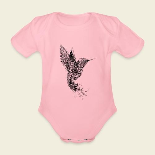 Großer Design-Kolibri - Baby Bio-Kurzarm-Body