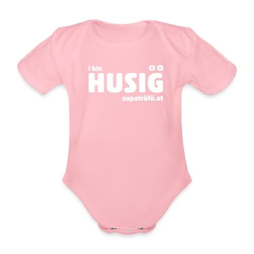 supatrüfö HUSIG - Baby Bio-Kurzarm-Body