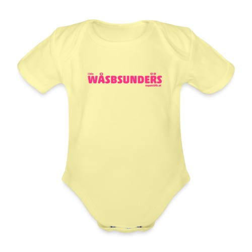 supatrüfö wasbsunders - Baby Bio-Kurzarm-Body