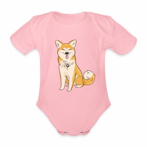 Akita Yuki Logo - Organic Short-sleeved Baby Bodysuit