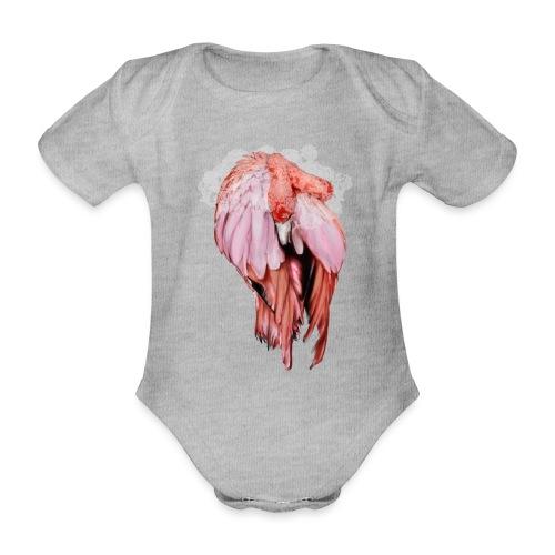 Fenicottero rosa - Body ecologico per neonato a manica corta
