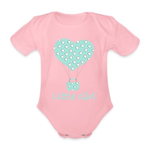 Little Girl in mongolfiera - Body ecologico per neonato a manica corta
